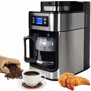 Kaffeeautomat Mit Mahlwerk : edelstahl kaffeemaschine kaffeeautomat mit mahlwerk und timer eur 104 26 picclick de ~ Buech-reservation.com Haus und Dekorationen