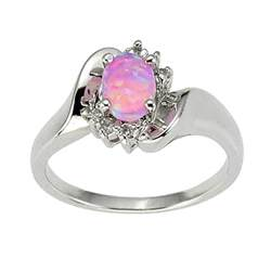 wedding rings ebay 925 sterling silver synthetic pink opal 39 s engagement wedding ring ebay
