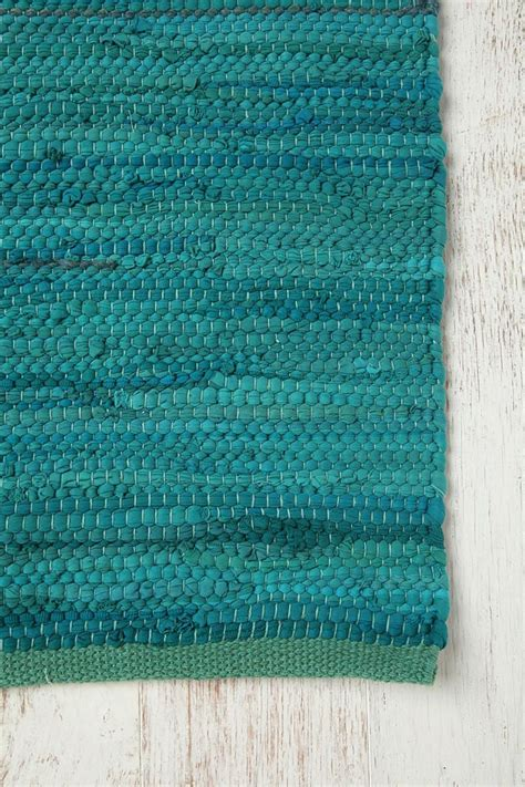 Turquoise Rag Rug by Turquoise Rag Rug Rag Rugs From The Whole World