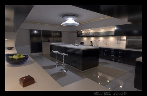 what is contemporary a large modern kitchen by xirys on deviantart