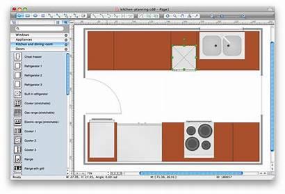 Kitchen Visio Layout Cabinet Software Clipart Planning