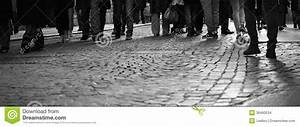 People Walking Down The Street Stock Images - Image: 36460534
