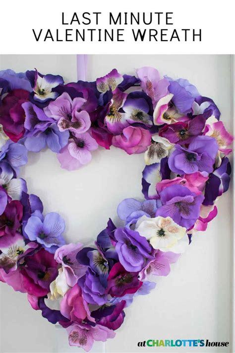 minute valentine wreath  charlottes house