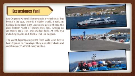 Glass Bottom Boat Valle Gran Rey by Los Organos Natural Monument A Canary Islands All Inclusive