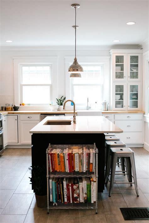 unique kitchen ideas  storing cookbooks