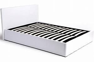 Lit Coffre Pas Cher : lit coffre 160x200 blanc avec sommier lit design pas cher ~ Teatrodelosmanantiales.com Idées de Décoration