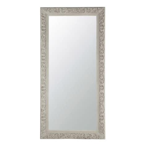 miroir chambre fille miroir en bois beige grisé h 180 cm aliénor maisons du monde