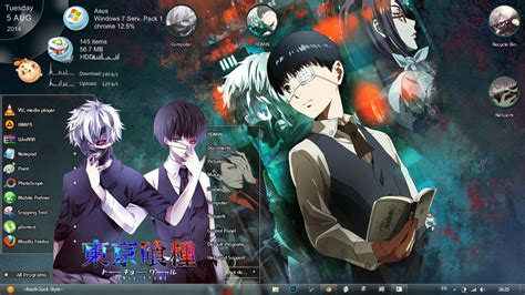 Themed Anime Wallpaper - theme win 7 tokyo ghoul by bashkara
