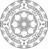 Mandala Coloring Pages Mandalas Easy Adults Adult Simple Colour Animal Flower Nature Hard sketch template