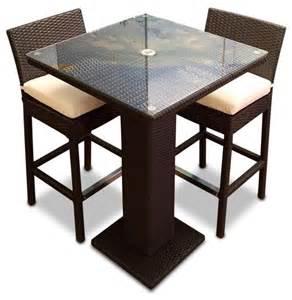 Contemporary Dining Room Sets 3 Outdoor Bar Table Set Contemporary Outdoor Pub And Bistro Sets By Mangohome