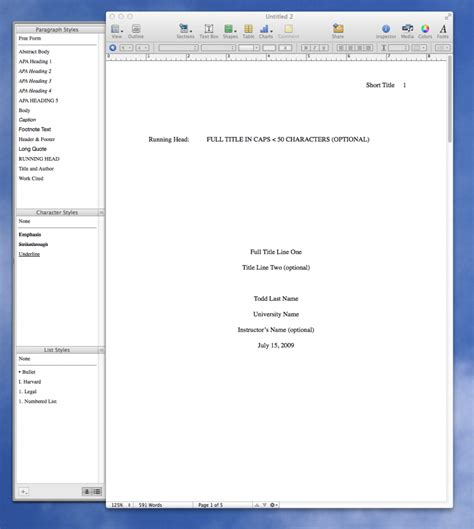 Title Page Template Word Mac by Apple Still Doesn T Have An Apa Template For Pages I