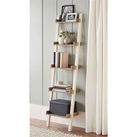 Leaning Bookcase Walmart by Better Homes And Gardens Bedford Leaning Desk And 2 5