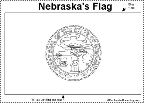 nebraska state seal coloring page