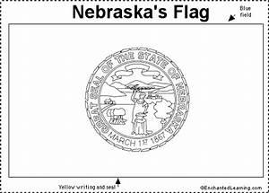Nebraska Flag Printout Enchantedlearningcom