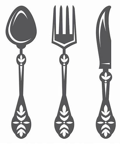 Kitchen Wall Decal Decals Spoon Knife Stencil