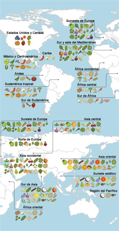 consagra mapa mostra origem dos alimentos comemos