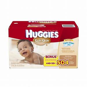Huggies Soft Skin Baby Wipes 504ct Box As Low As $7.59 Shipped