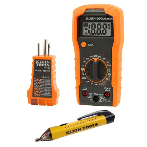 Klein Tools Electrical Test Kit The Home Depot