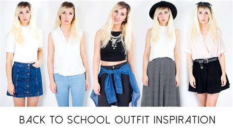 BACK TO SCHOOL/COLLEGE/UNIVERSITY | OUTFIT INSPIRATION | CRAVING CLOTHES - YouTube