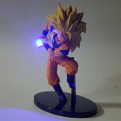 Anime Dragon Ball Tap 1 Dragon Ball Z Action Figures Son Goku Kamehameha Led Light