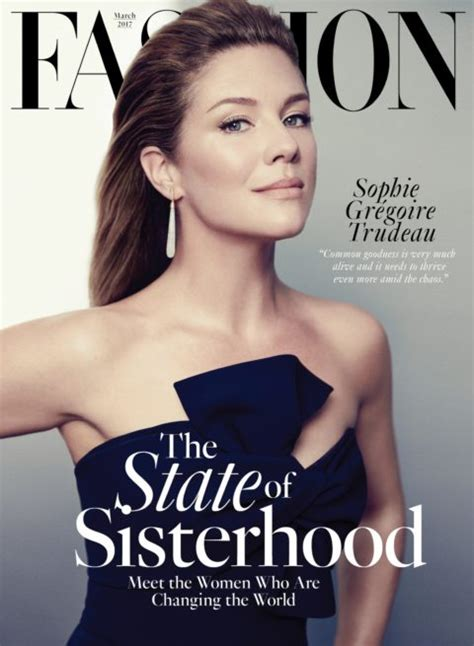 Fashion Magazine March 2017 Cover Sophie Grégoire Trudeau