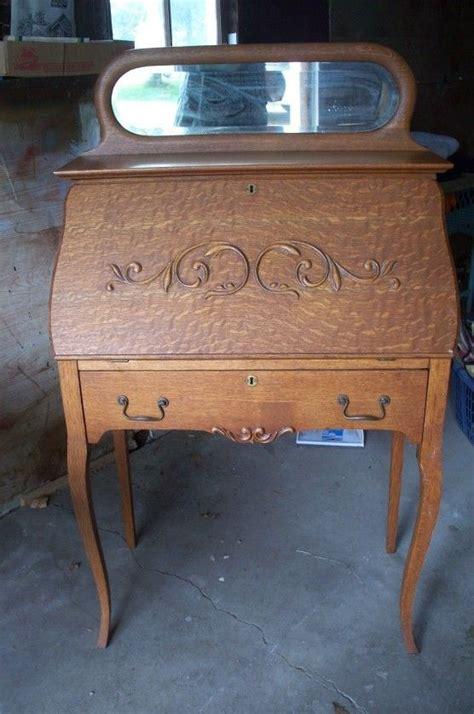 Jc Antique Ladies Dropdown Secretarywriting Desk, Oak