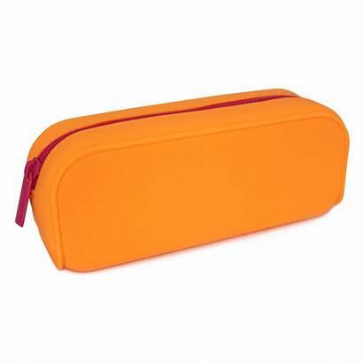 Pencil Case Silicone Orange Zip