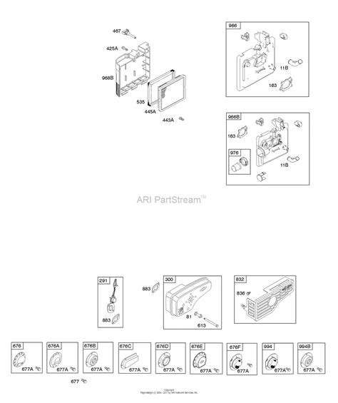 briggs and stratton 128t02 3125 b1 parts diagram for air cleaner exhaust system