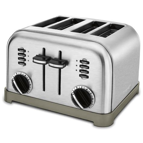 toaster stainless cuisinart cpt 180 metal classic 4 slice toaster brushed