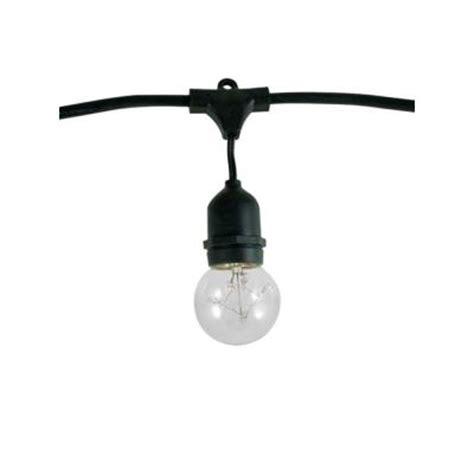 bulbrite 15 light outdoor black string light set 10002