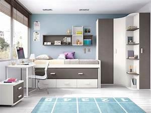 Chambre Pour Ado : chambre pour ado avec lit sur lev et gigogne glicerio so nuit ~ Farleysfitness.com Idées de Décoration