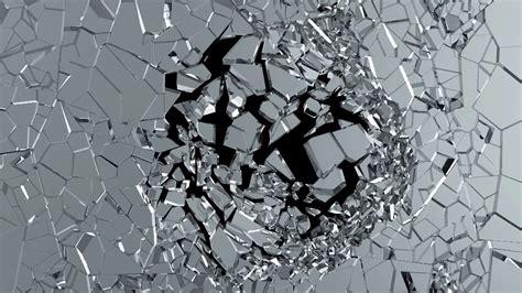 Broken Animation Wallpaper - motion animation of broken glass on black background