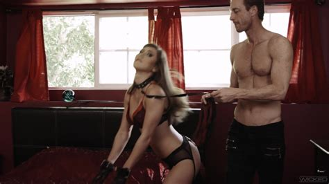 Submissive Paige Owens Leashed Throat Fucked And Screwed