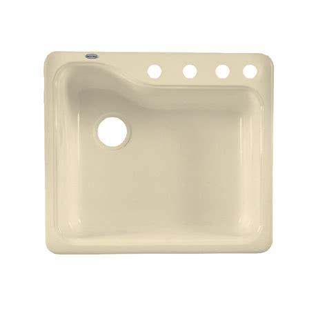 american standard porcelain kitchen sink shop american standard silhouette single basin drop in or 7443