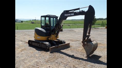 john deere  mini excavator youtube