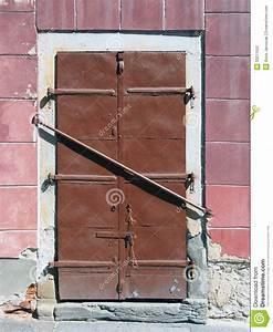 Barred Steel Door Stock Photography - Image: 33211552