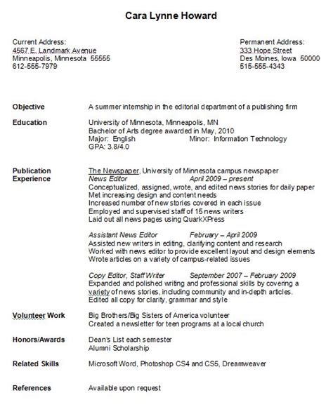 How To Format A College Resume by College Resume Format Learnhowtoloseweight Net