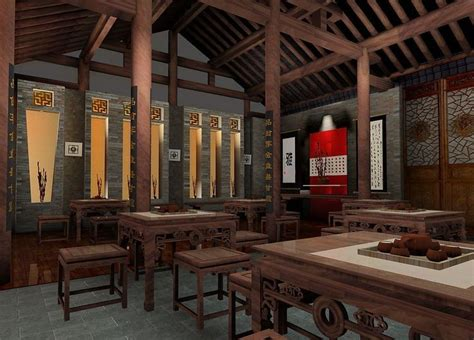 Chinese Teahouse Interior Design