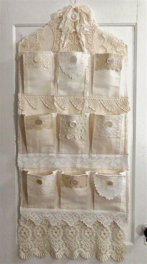 Sweet shabby chic idea for hanging organizer   need to