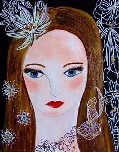 Peinture Visage Femme : portrait femme visage peinture acrylique portrait art contemporain tableau portrait toile ~ Melissatoandfro.com Idées de Décoration