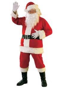 flannel santa suit men s christmas santa claus costumes