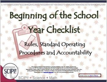beginning   school year checklist  teachers