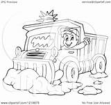 Snow Clipart Plough Driver Happy Illustration Waving Outlined Plow Royalty Vector Visekart Coloring Pages Regarding Notes Template License sketch template