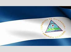 Nicaragua flag Footage Stock Clips