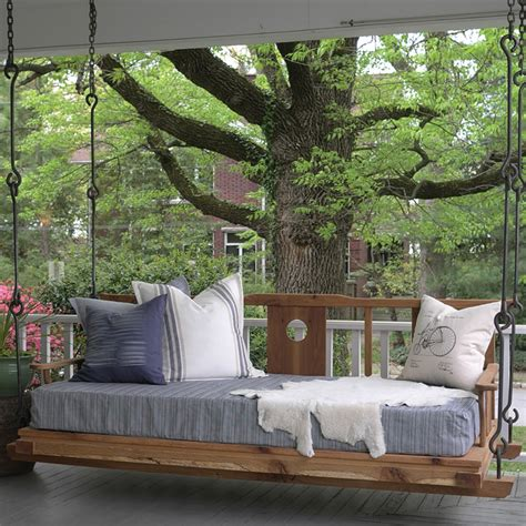 outdoor porch bed swing ideas and things to consider before buying an outdoor bed