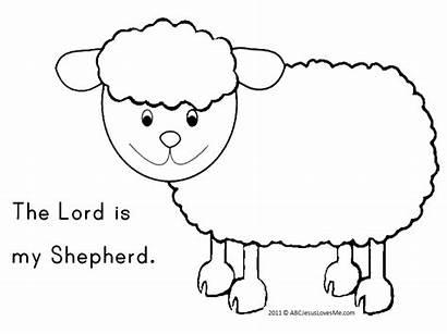 Psalms Bible Crafts Psalm Coloring Sunday Shepherd