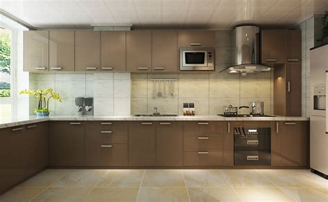 L Shaped Small Kitchen Ideas - stunning l shaped kitchen designs also brown modern kitchen cabinet also modern cooking hood and