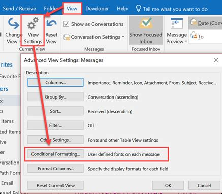color messages color code email messages sent only to you outlook
