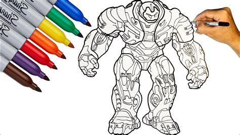 hulkbuster hulkbuster mark 49 coloring pages how to