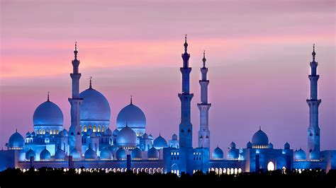 Blue Mosque Wallpaper 4k by Wallpaper Sheikh Zayed Mosque Abu Dhabi Sky Sunset 4k